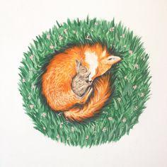 Impression de Fox pépinière Art Art de Fox pépinière par BirchBliss