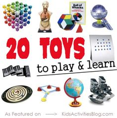 {Kids Stuff} 20 Toys for Learning - Kids Activities Blog