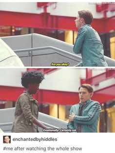 Dirk Gently's Holistic Detective Agency is full of feels. Can we talk about season 1's finale?? I want to know what happens with Bart when she picks up the rock!!