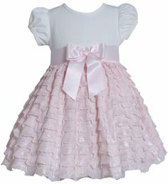 * TODDLER GIRLS 2T-4T * Pink Ivory Knit to Foil Eyelash Ruffle Tier Dress PK2HA, Pink, Bonnie Jean Toddler Girls 2T-4T Social Dress Bonnie Jean http://www.amazon.com/dp/B00KKVQ5W6/ref=cm_sw_r_pi_dp_SsUItb09KVFWXRVD
