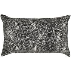 Embroidered Swirl Feather-filled Throw Pillow
