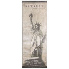 Miss Liberty by Grace Feyock: 35.87 x 98.37 Canvas Art