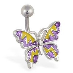 Purple and yellow glitter zig-zag butterfly navel ring Ms.Piercing Belly Button Ring,http://www.amazon.com/dp/B009U4LF4M/ref=cm_sw_r_pi_dp_X2CKrbD713CD4DA4