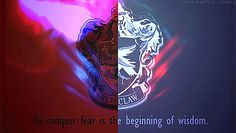 Gryffindor and Ravenclaw quote (GIF)  --  lady snark