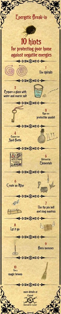 10 Simple Spells for Protection against negative energies.  #Witch #Witches #Wicca #Wiccan #BookOfShadows #Pagan #Paganism #Spell #Spells #Witchcraft #Spellcraft #Magic #Magick