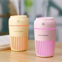 Portable Mini LED Humidifier Car Air Purifier Oil Aroma Diffuser Cool Mist USB
