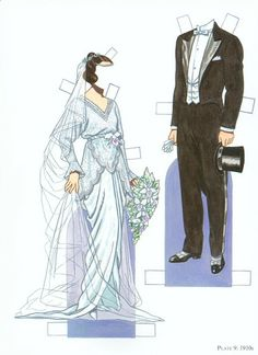 Miss Missy Paper Dolls: Bride and Groom Fashion Paper Dolls #laurelridgecc