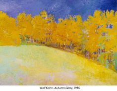 Wolf Kahn, magnificent colorist in pastel and oil