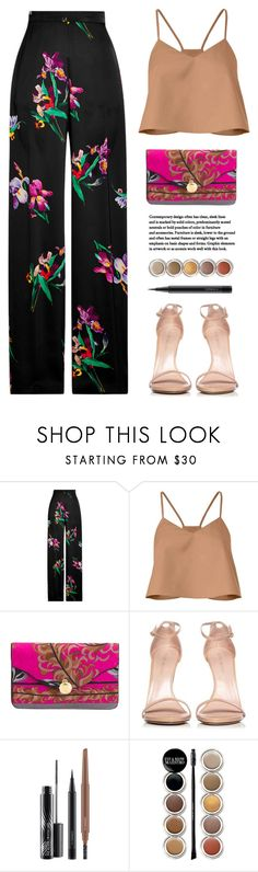 """!!"" by yexyka ❤ liked on Polyvore featuring Etro, TIBI, Emilio Pucci, Stuart Weitzman, MAC Cosmetics, Giorgio Armani and tropicalprints"