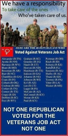 UNPATRIOTIC GREEDY CORRUPT Republicans CALL OUR SOLDIERS+ VETERANS TAKERS....VOTE OUT THE GOP!!