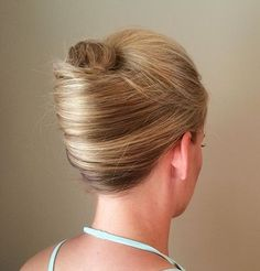 blonde+sleek+french+twist