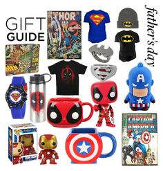 Father's Day Gift Guide by amber-lanehart on Polyvore featuring polyvore, Marvel, Changes, Noir, men's fashion, menswear, clothing and fathersdaygiftguide
