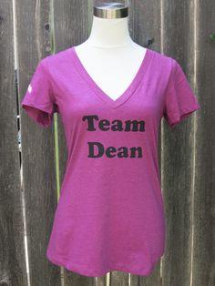 Team Dean Women's Vneck  — Crafts by Casaverde