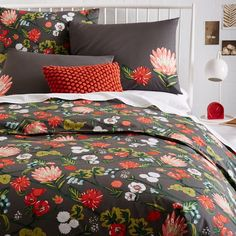 Garden Trellis Duvet Cover, Slate $35 queen