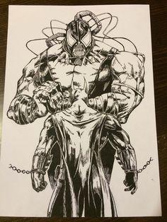 Batman vs Bane sketch
