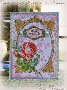 """This art that makes me happy: Sympathy cards created using Crafty Secrets """"Creating with Vintage Illustrations CD"""""""