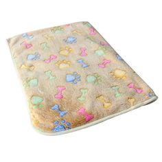 KUANG YANZI Soft Blanket With Coral Fleece Cover Pet Mat Warm Bed Mat Paw Print Bone Cushion *** See this great product. (This is an affiliate link and I receive a commission for the sales)