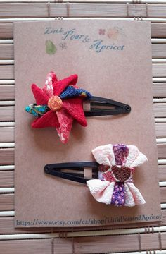 Windmill, Ribbon snap hair clips, Kimono fabric, Japanese barrette,kanzashi,baby, toddler, adult snap hair clips, gift, birthday by LittlePearandApricot on Etsy Kimono Fabric, Barrette, Windmill, Hair Clips, Trending Outfits, Unique Jewelry, Handmade Gifts, Ribbon, Hair Accessories
