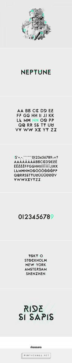 Neptune - Free Font on Behance - created via https://pinthemall.net