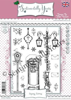 Trudie Howard Sentimentally Yours A5 Stamp Set - Snowy Extras Stamp, Stamps