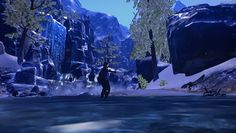 The icy blue waters of Wrothgar