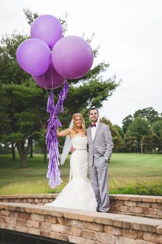 Don't forget GIANT BALLOONS for your wedding day pics as a #whimsical #weddingidea! See more on SMP -- http://www.StyleMePretty.com/illinois-weddings/bloomington-illinois/2013/12/13/bloomington-country-club-wedding/ Rachael Schirano Photography