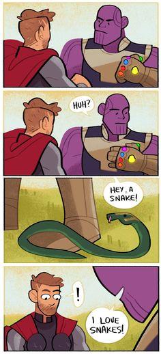 I love snakes.