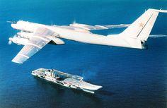"Russian Tupolev Tu-142M ""Bear-F/J"" anti-submarine warfare aircraft. Maritime version of the long range strategic bomber."