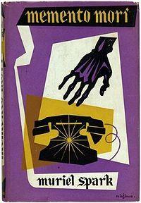 Muriel Spark, Memento Mori, London: Macmillan & Co. Ltd., 1959. Jacket by Victor Reinganum.