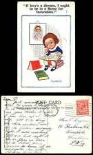 Donald McGill 1923 Old Postcard If Love's a disease, I be in Home for Incurables