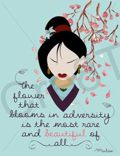 Mulan is a character from walt disney pictures, based on the chinese legend. Disney Amor, Film Disney, Disney Love, Disney Magic, Disney Pocahontas, Mulan 3, Disney Princesses, Disney Stuff, Movies Quotes