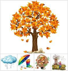 Seasons Activities, Autumn Activities For Kids, Fall Preschool, Preschool Learning Activities, Preschool Activities, Crafts For Kids, Autumn Crafts, Autumn Art, Spring Crafts