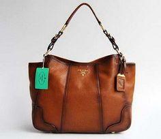 Prada 80041 Graceful Ladies Bag in Light Coffee