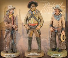 3 Limited Edition sculptures by Michael Garman. ©2016