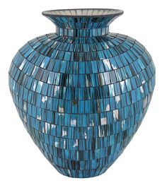 Splendid Mosaic Vase-Resin