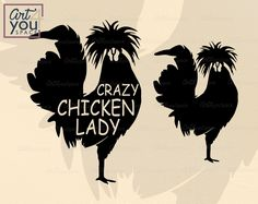 Chicken Lady, Chicken Humor, Chicken Signs, Polish Chicken, Farm Art, Chickens And Roosters, Silhouette Cameo Projects, Cutting Files, Vinyl Decals