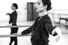 Dorothée Gilbert, Danseuse Étoile de l'Opéra de Paris, warming up at Mariinsky Theatre. Photo by James Bort