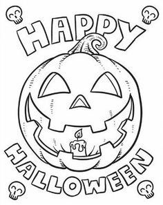 Happy Halloween Coloring Pages For Kids Pinteres