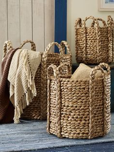 Cadman Basket - These Ralph Lauren baskets are delicious!  Love using baskets