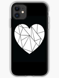 Broken heart [BLACK] iPhone Case & Cover -  Designed by Didi Kasa Iphone Case Covers, Cover Design, I Shop, Finding Yourself, Heart, Stuff To Buy, Black, Black People, Hearts