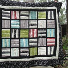 Quilters who want to make a scrap-busting project and do not want to sacrifice style will adore the Happy and Scrappy Blocks Quilt. This easy sewing pattern allows you to use scraps to create a funky quilt that would make a great wall hanging or blanket to keep you warm during cold nights.