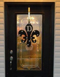 Monogrammed Fleur De Lis Door Hanger Sign Decor Pinterest Monograms And Doors