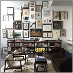 Insta-Crush: Julia Leach of Chance #gallerywall #bookshelves