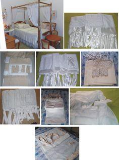 Xale para cama. Decorative fly net. Bed canopy.
