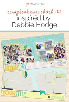 Scrapbook Page Sketch and Layered Template