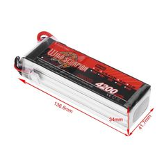Wild Scorpion 14.8V 4200mAh 35C MAX 45C 4S T Plug Li-po Battery for RC Car Airplane Helicopter Part