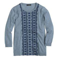 embroidered merino sweater / j.crew