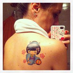 La mia piccola kokeshi #newtattoo #tattoo #mokotattoo #kokeshitattoo…