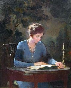 Reading and Art: Tarbell_Edmund Charles: Mary reading