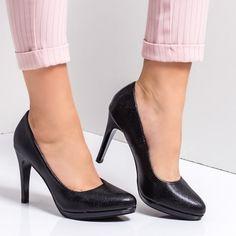 Pantofi dama cu toc negri Criseli -rl Pumps, Shoes, Fashion, Moda, Zapatos, Shoes Outlet, Fashion Styles, Court Shoes, Fasion